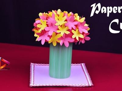 How To Make A Paper Flower Ball | Paper Flowers Showpiece Ideas | DIY Paper Flower Home Decor Idea