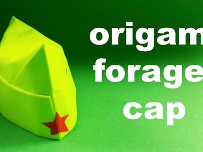 How to make a paper forage-cap. Origami Cap. Paper Cap
