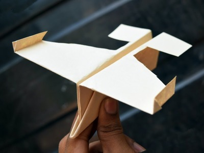 How to make a paper plane that flies - paper airplane easy making