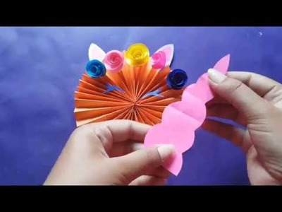 Origami Unicorn Bookmark Tutorial - How to Make A Paper Unicorn ... | 300x400