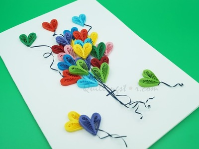 How to make a simple Quilling Birthday Card