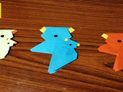 How to make Bear Corner Bookmark - Top Origami