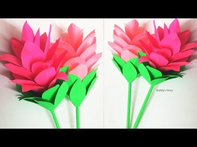 How to Make Beautiful Flower with Paper - DIY Paper Flowers - Siam Tulip