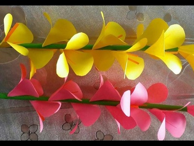 How to Make Beautiful Paper Flowers | Making Paper Flowers Step By Step | DIY Flower Making