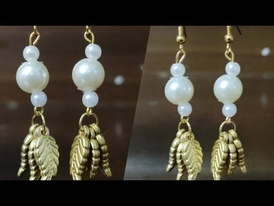How to make Beautiful Pearl Earring at Home | Beautiful Dangling Earring | Handy Mandy Craft