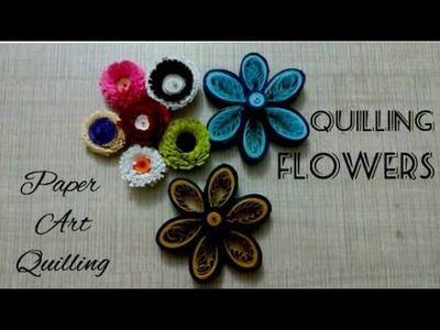 How to make Beautiful Quilling Flowers || Paper Art Quilling || Quilling Flowers ||