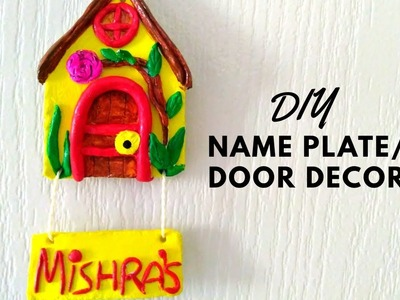 How to make Door Name Plate at home||Wall decor || Decorative door name plate