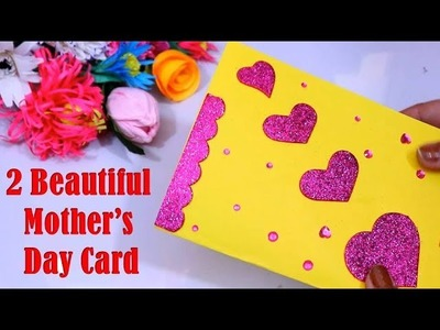 How to make mother's day card | 2 Mothers day cards handmade beautiful || Mother's day greeting card