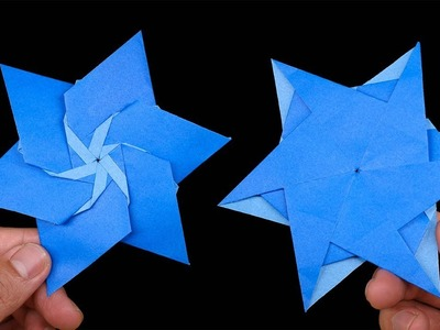 How to make #Origami #Ninja #Star 06 point - Easy origami for kids