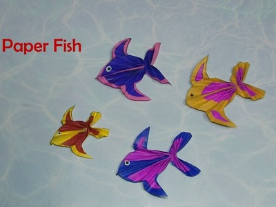 How to make paper fish (crafts for kids)