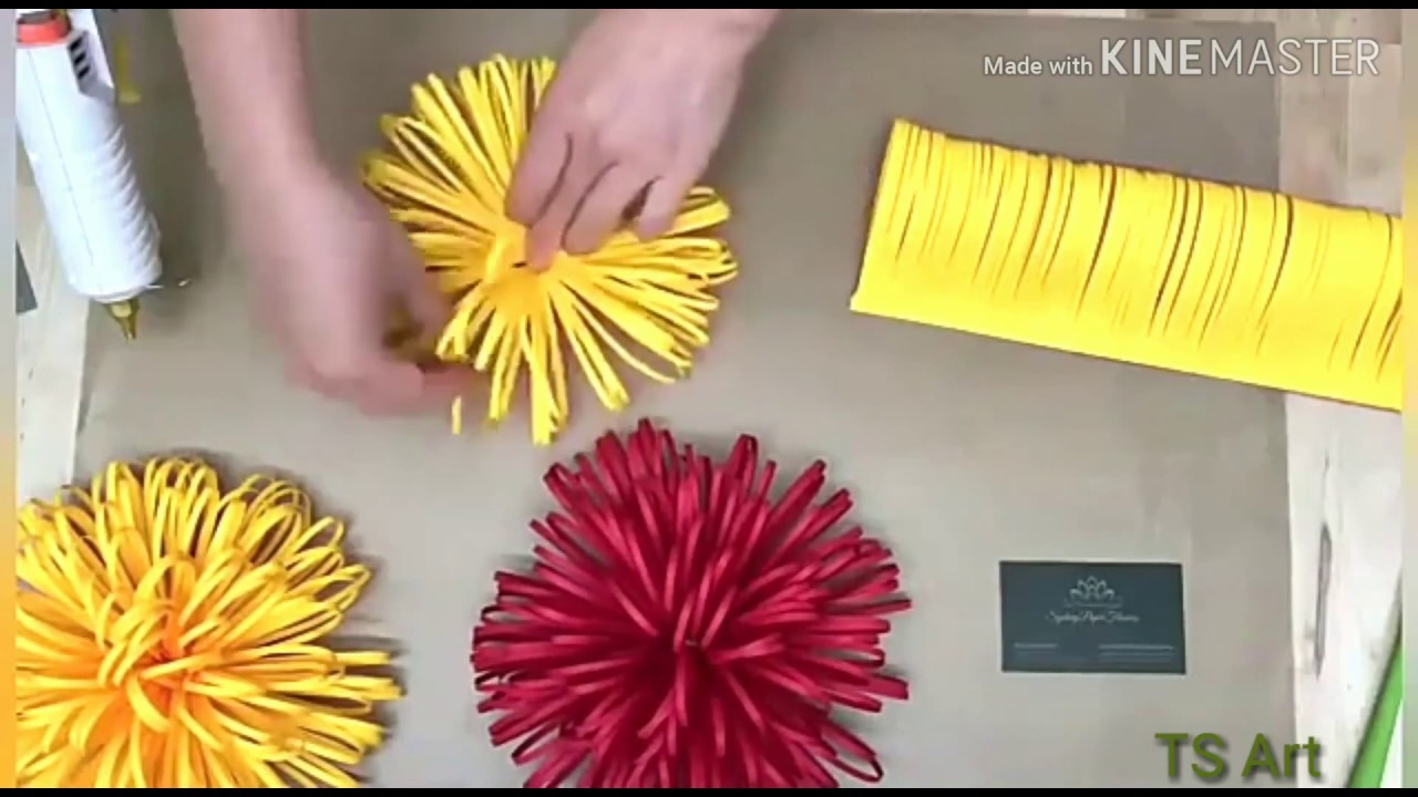 How To Make Paper Flowers - DIY Home Decoration Idea - Paper Crafts !!! TS Art