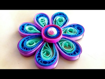 How to make quilling flower ; diy quilling flower making ; how to make paper flower at home