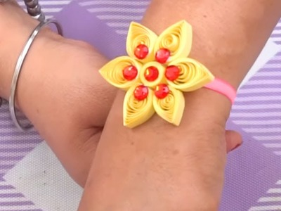 How to make Quilling paper bracelets   paper bracelets making step by step tutorial