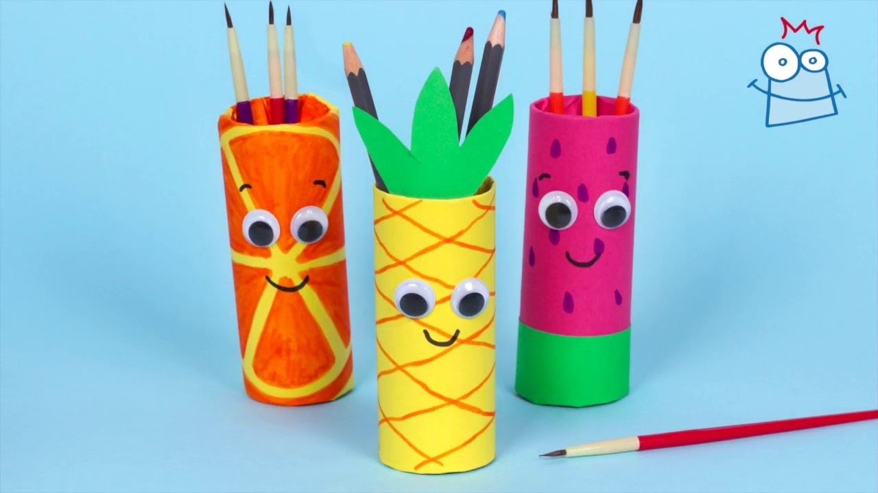 How to make Summer Fruit Pen Pots | Easy Summer Crafts for Kids