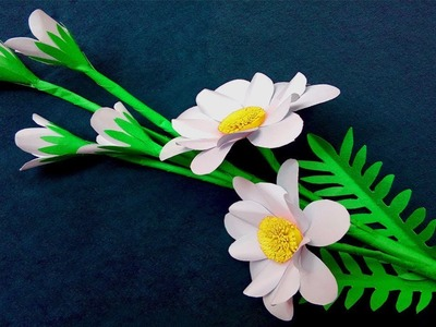 Diy How To Make Simple Paper Flowers At Home Making Flowers With