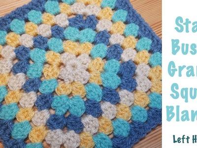 Left Handed Crochet: Stash Busting Granny Square Blanket
