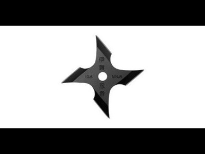 Life Creative #1 How To Make a Paper Ninja Star (Shuriken)