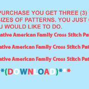 CRAFTS Native American Family Cross Stitch Pattern***LOOK*** PREVIEW A SAMPLE OF MY PATTERNS DETAILS BELOW