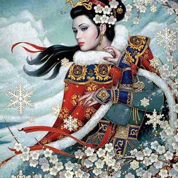 OrientaL Winter Majesty Cross Stitch Pattern***LOOK***X***INSTANT DOWNLOAD***