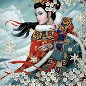 CRAFTS OrientaL Winter Majesty Cross Stitch Pattern***LOOK*** PREVIEW A SAMPLE OF MY PATTERNS DETAILS BELOW