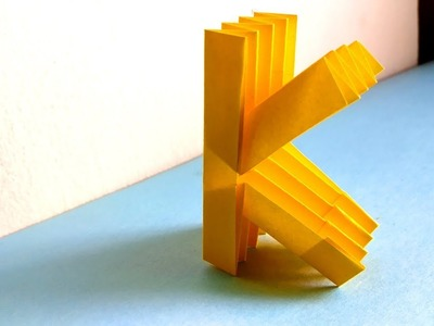 """ORIGAMI ALPHABET """"K"""" 
