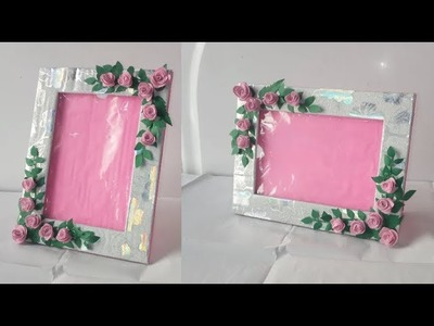 Photo frame DIY Ideas. How TO Make Easy Photo frame At Home. Easy Paper Craft.