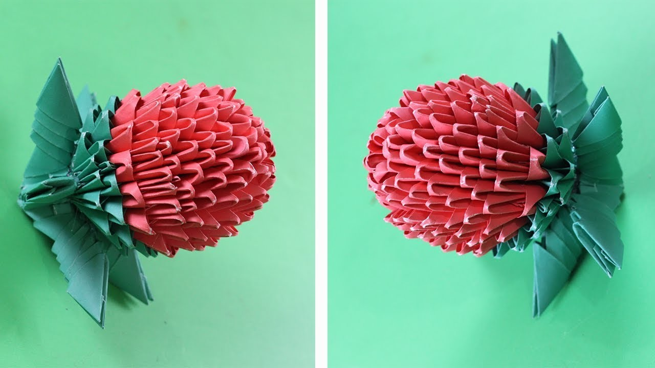Amazing Paper Strawberry (Handicrafts)  - Paper Crafts || Eassy Life