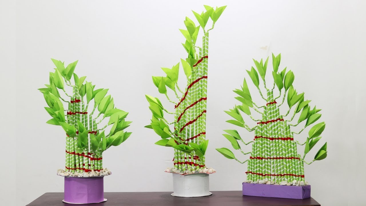 Amazing Plants Crafts 'Lucky Bamboo Plant' | Bamboo Plants | Lucky Plants | Paper Crafts | EP25