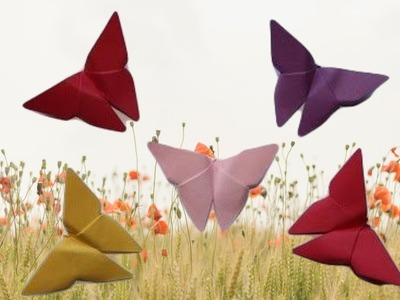 Beautiful Paper Butterflies - Easy Origami Paper Craft