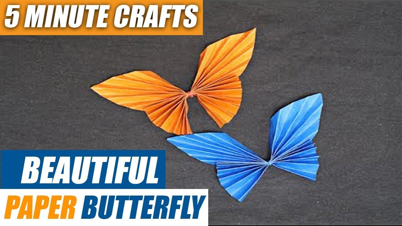 Beautiful Paper Butterfly | 5-Minute Crafts | Origami for Beginners