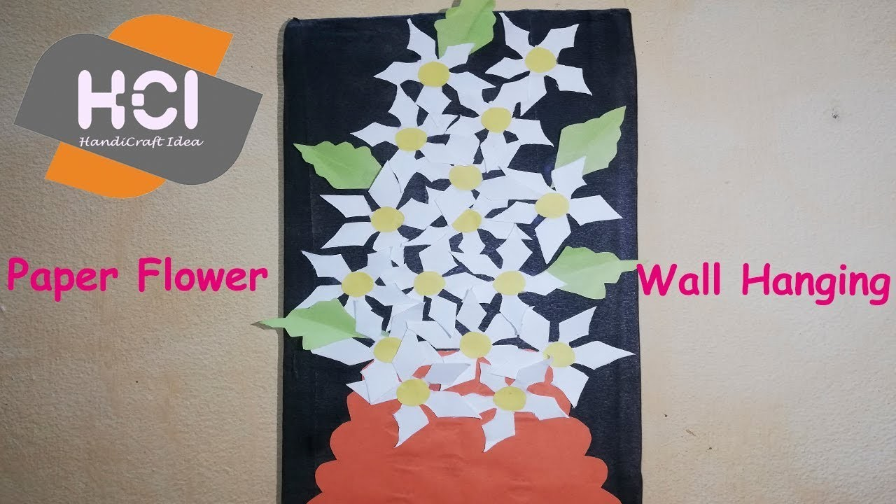 Beautiful Paper Flower Wall Hanging Paper Flower Wall Decoration Paper wall Decor HandiCraft Idea