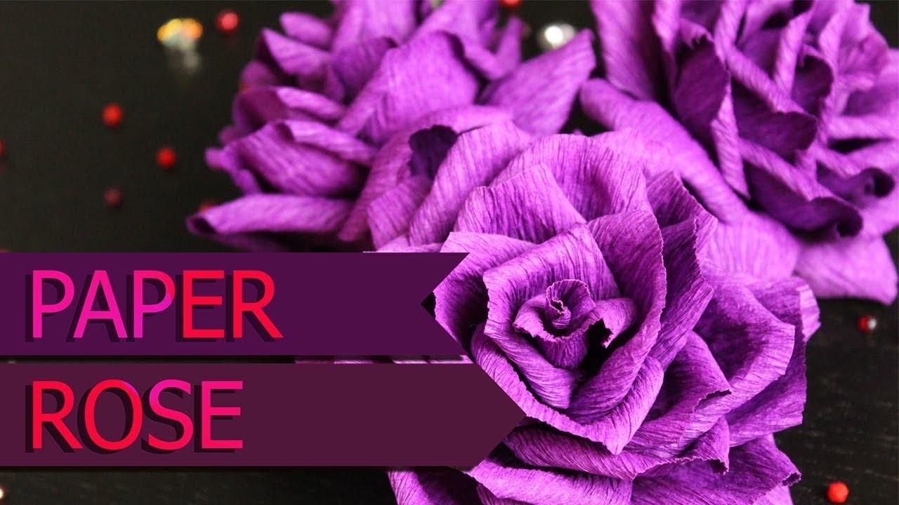 Beautiful paper rose - DIY
