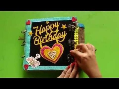 .Birthday Scrapbook Idea.Handmade.Gift Ideas