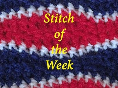 Crochet Stitch of the Week - Lemon Peel Stitch A #2