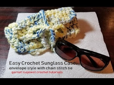 #crochet sunglasses case-a step by step tutorial
