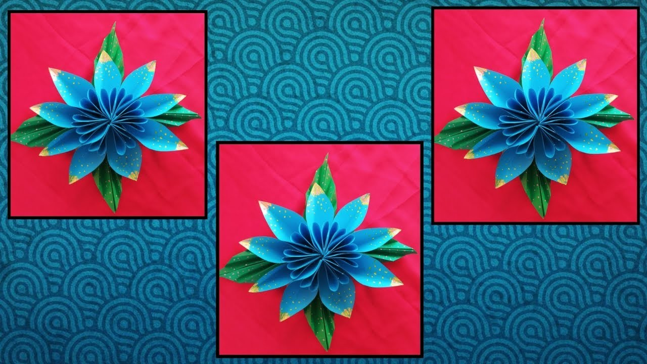 Designer flower from color paper | New craft ideas