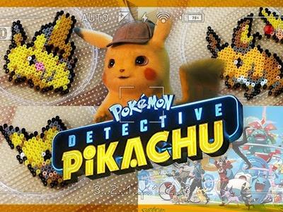 Detective Pikachu trailer - Pokemon evolution perler beads art | 명탐정 피카츄 깜놀 더빙! 개봉기념 포켓몬 펄러비즈 만들기