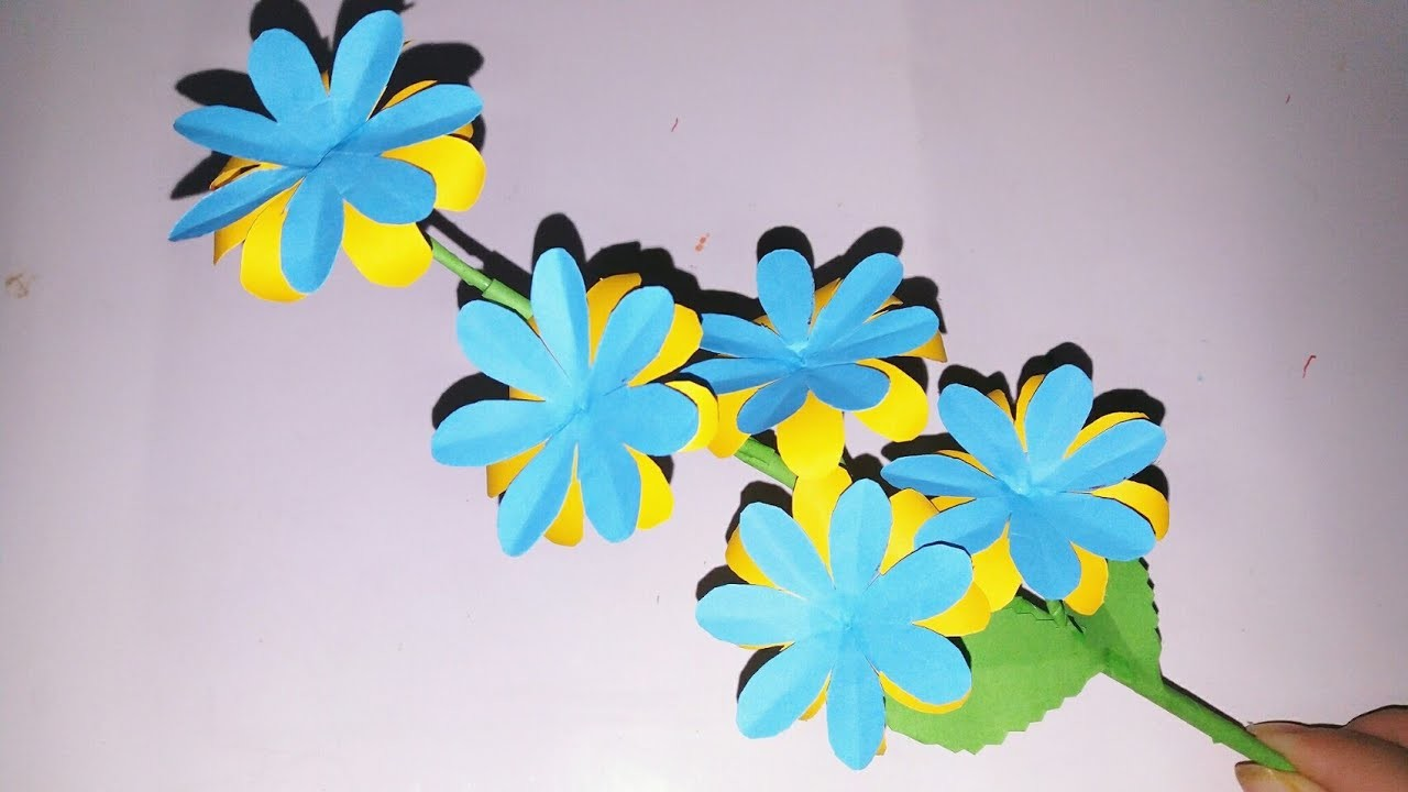 DIY Easy Paper flower : How to make diy Paper stick | Flowers Making | Chenly's Crafty Creation