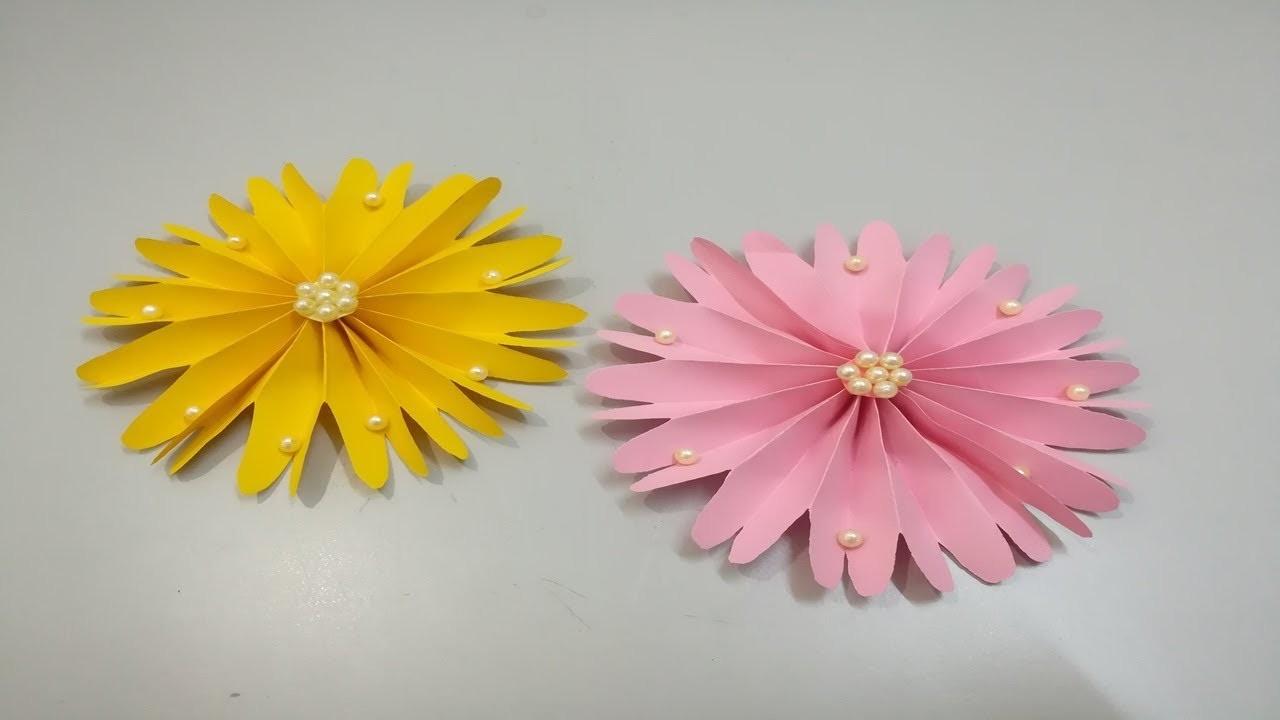 Diy flores de papel - Easy paper flowers - paper flower making - Flor de Origami
