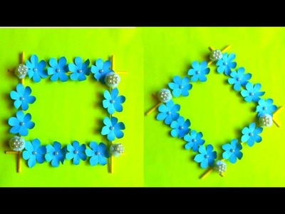 DIY How to make easy wall hanging decor with paper | wall hanging idea | easy paper flower craft