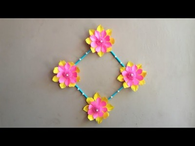 DIY How to make easy wall hanging at home | wall hanging from paper | room decor diy
