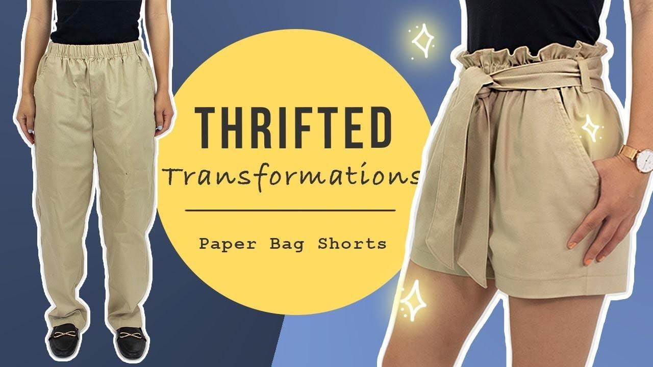 DIY Paper Bag Shorts   Thrifted Transformations