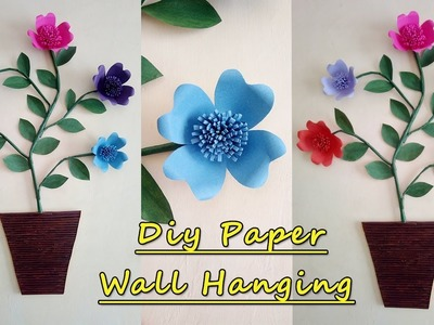 Ideas Attractive Wall Decoration With Paper Flower Paper Wall