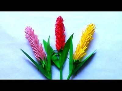 DIY: Upgraded Lavender Paper Flower Ideas|Paper Flower Making|Handmade Lavender Flower Craft Ideas