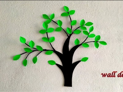DIY Wall decor ideas. DIY christmas tree from cardboard and paper. Home decoration ideas