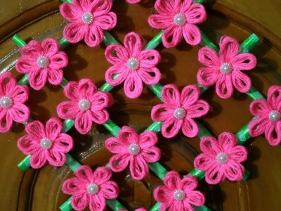 DIY Woolen Wall Hanging - Wall Hanging with paper - DIY Hanging Flower - Wall Decoration ideas