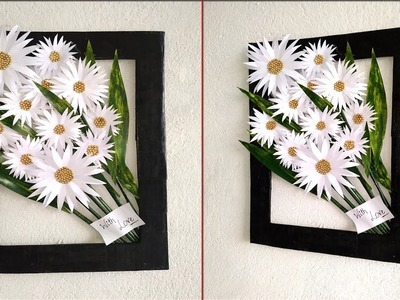 Handmade beautiful wall decoration ideas   How to decorate your home easily   DIY paper craft ideas
