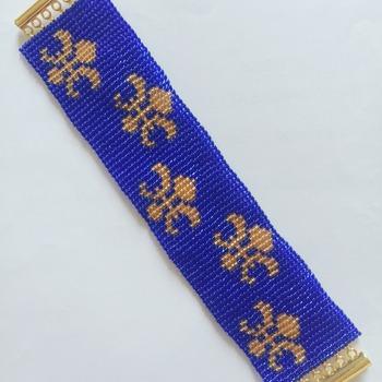 Handmade Golden Fleur De Lis Bracelet Jewellery