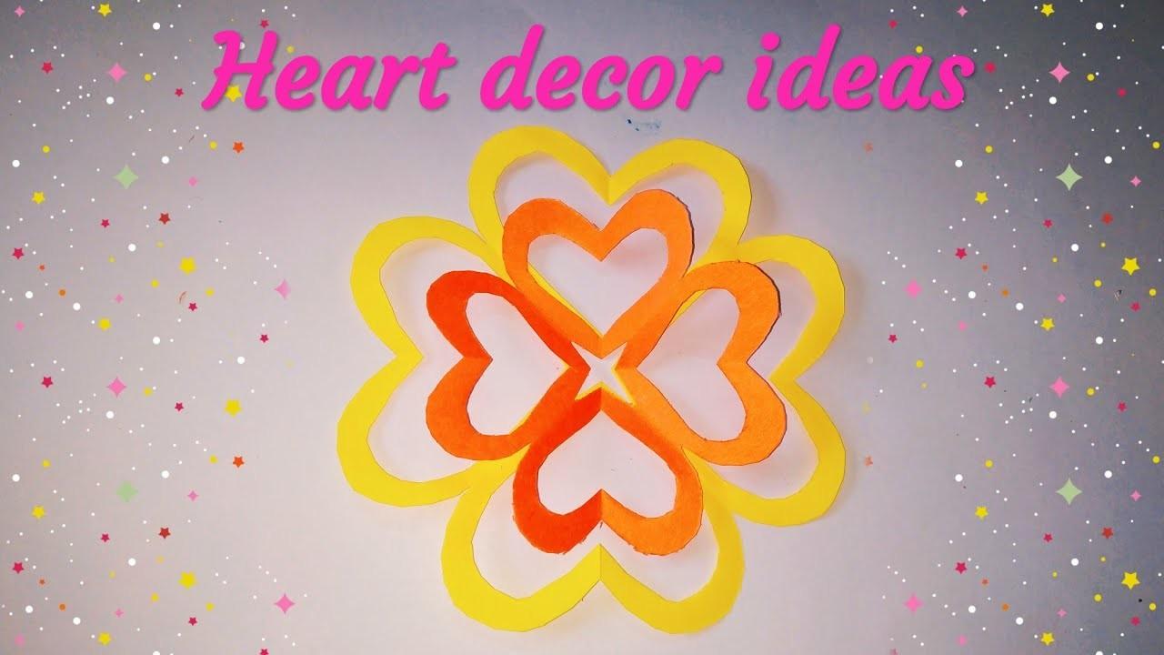 Heart paper design | paper cutting heart design | heart paper flowers | sweety trendzzz