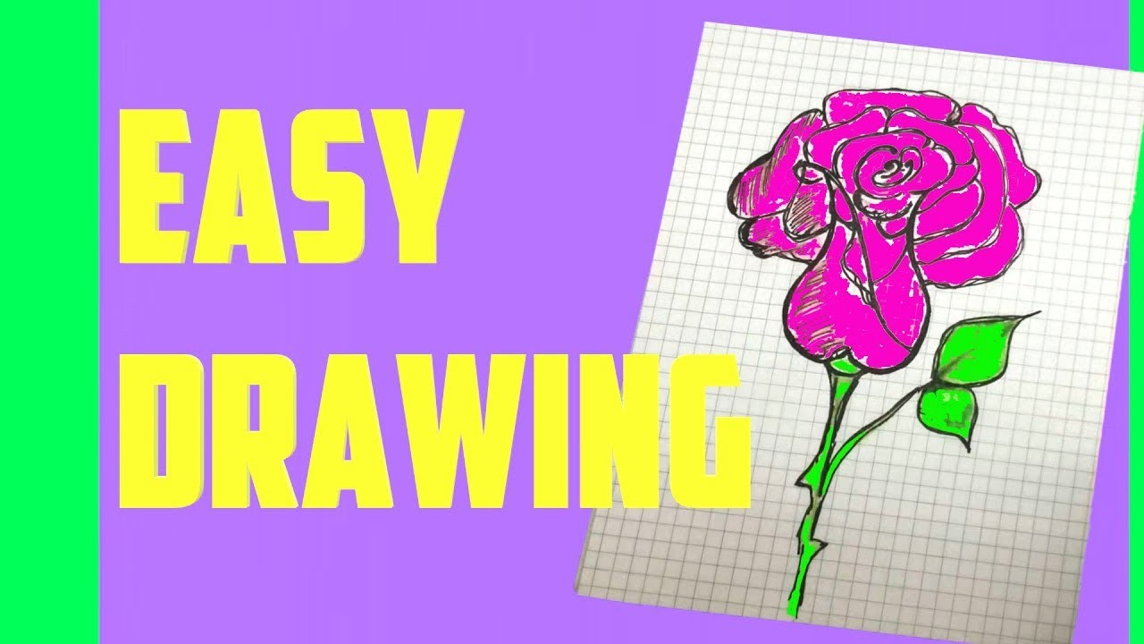 HOW TO DRAW A CUTE ROSE SUPER EASY AND KAWAII EASY DRAWING by Devlin Fox